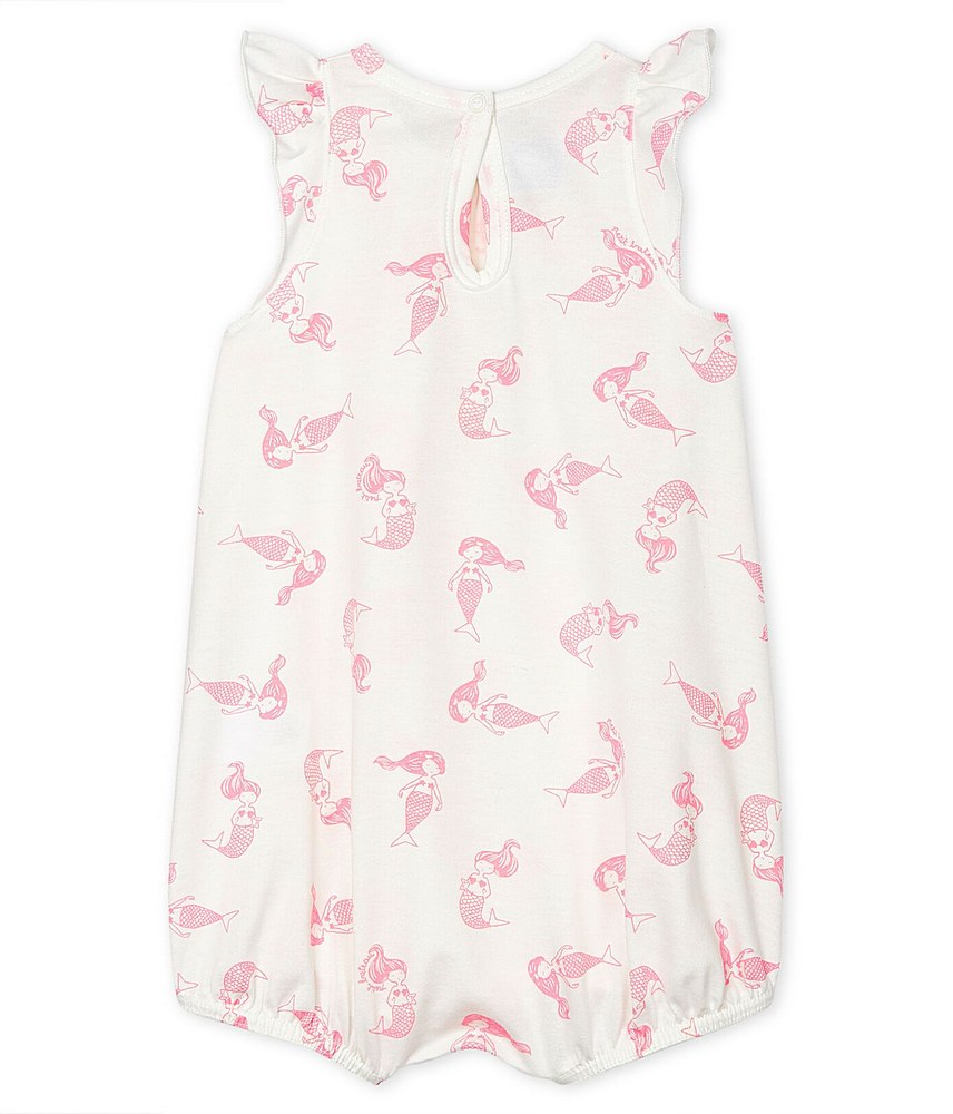 55003 / 01 WHITE PINK / MERMAID PRINT BUBBLE