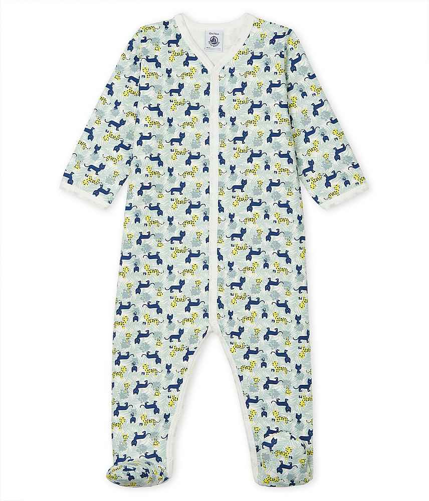53024 / 01 MULTI / FRONT SNAP PRINTED FOOTIE