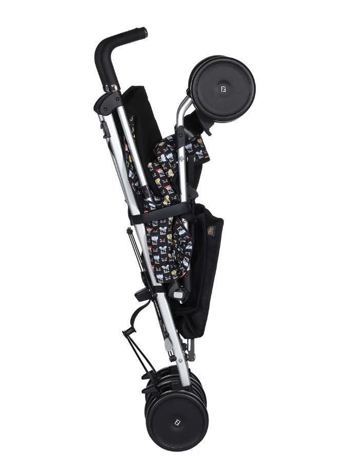 BUV000-BHU-UNI / BLACK / FENDI BLACK MONSTER PRINT STROLLER