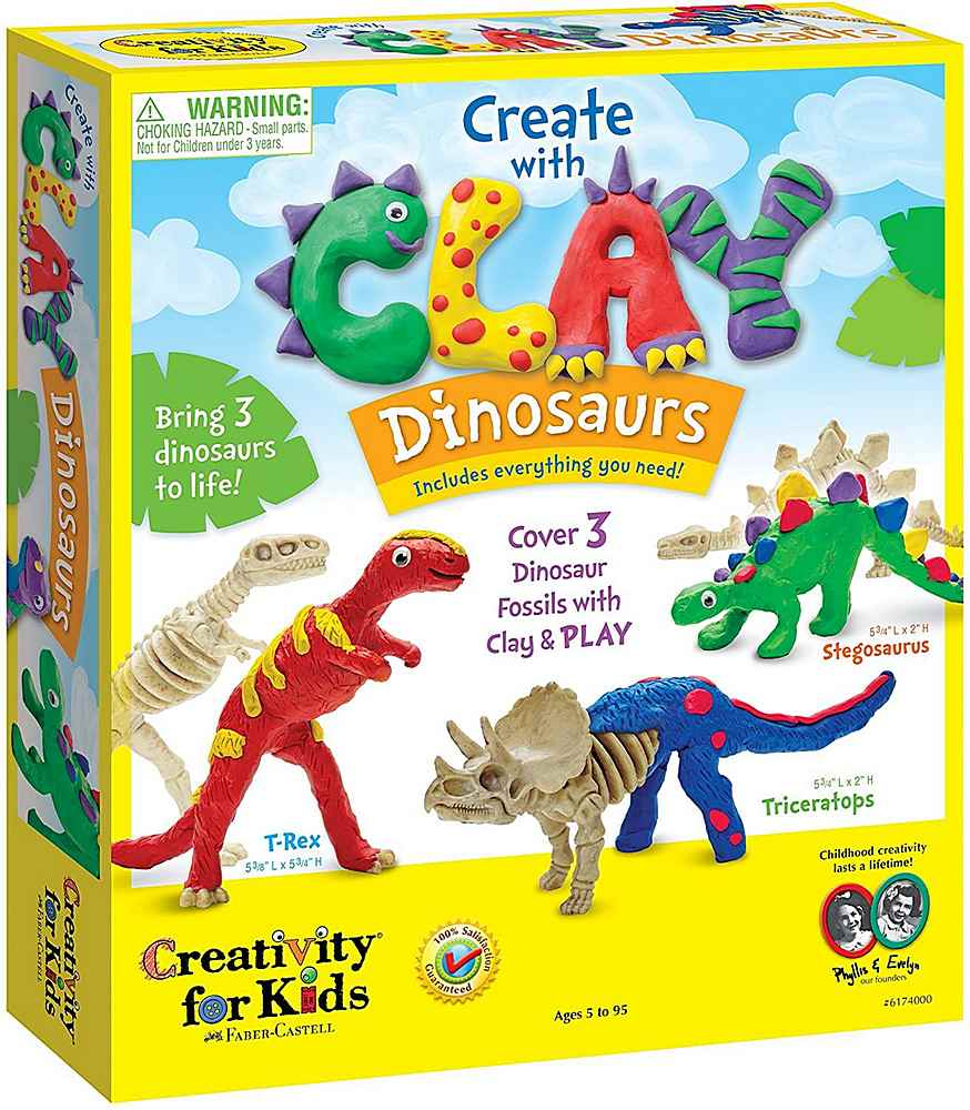 6174000 / MULTI / CREATE WITH CLAY DINOSAURS
