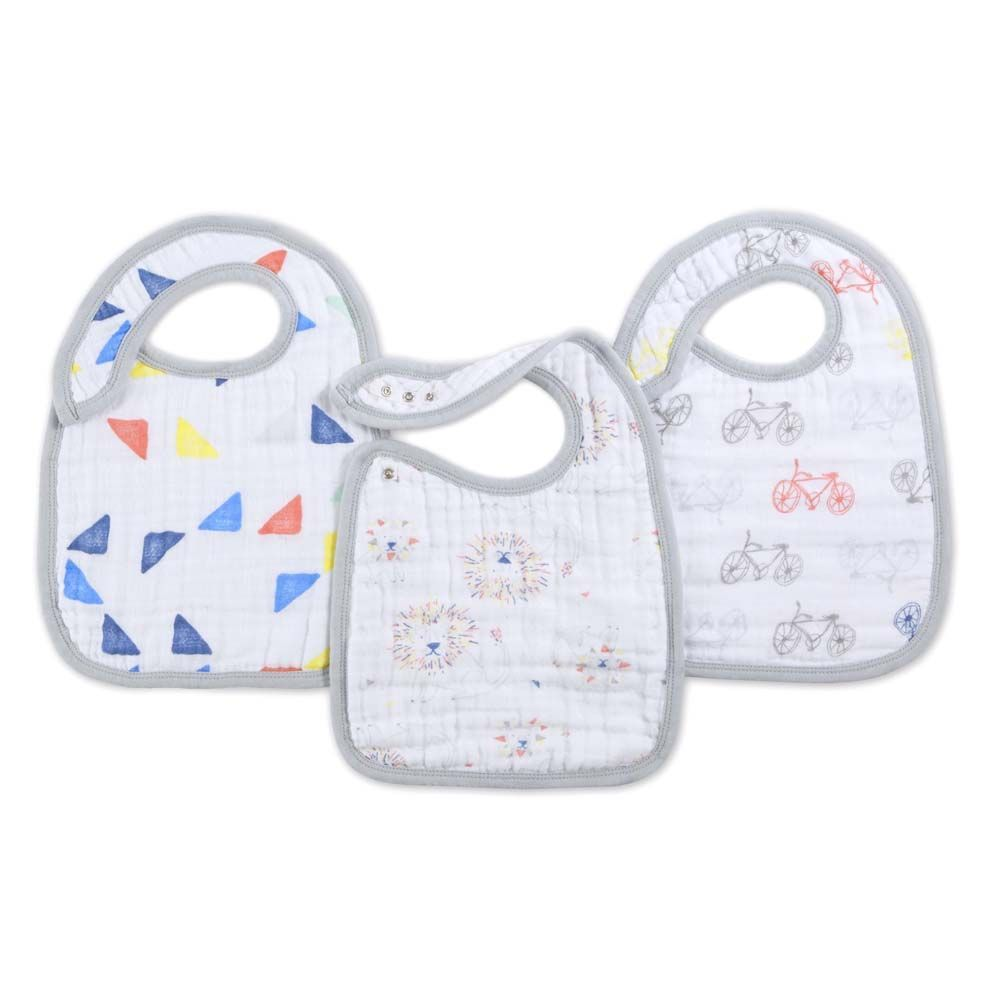 7123 / LEADER OF THE P / ADEN & ANAIS CLASSIC SNAP BIBS - 3 PACK
