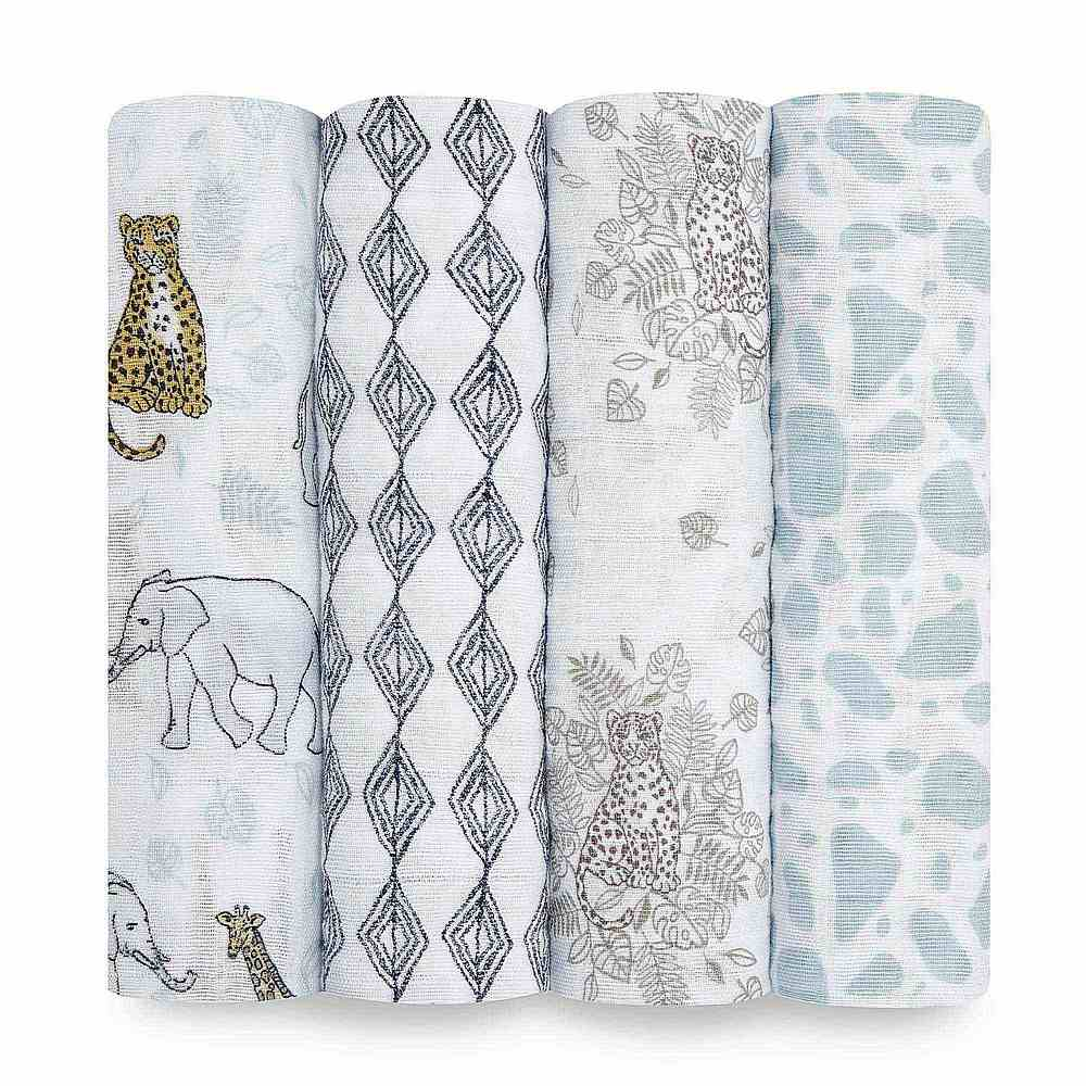ASWC40003 / JUNGLE / ADEN & ANAIS CLASSIC SWADDLE - 4 PACK