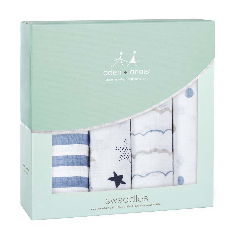 2046 / ROCK STAR / ADEN & ANAIS CLASSIC SWADDLE - 4 PACK
