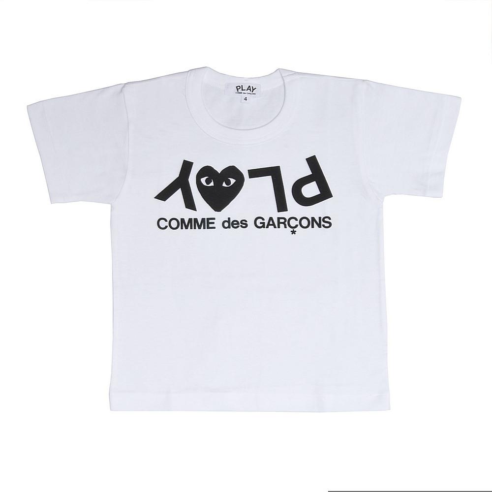 AZ-T567 / WHITE-1 / Play Kids T Shirt Play Logo