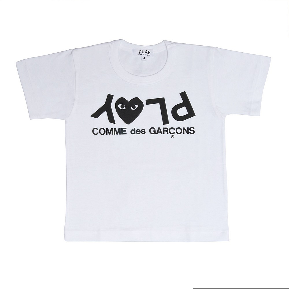 P1T567 / WHITE-1 / Play Kids T Shirt Play Logo