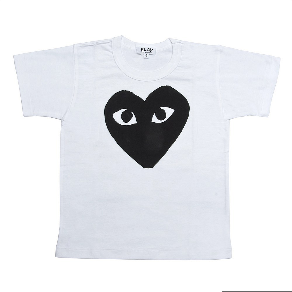 AZ-T569 / WHITE/BLACK-1 / COMME Des GARCON T-Shirt Black Heart