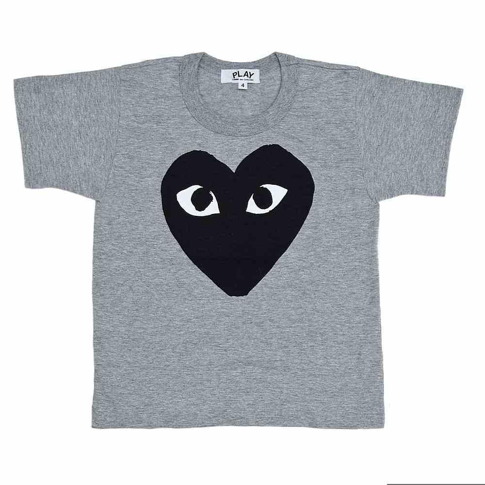 AZ-T583 / GREY-1 / COMME Des GARCON T-Shirt Black Heart
