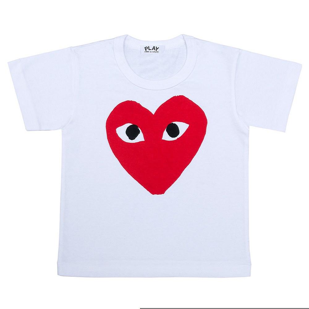 P1T661 / WHITE-1 / Play Kids T-Shirt Rd Heart