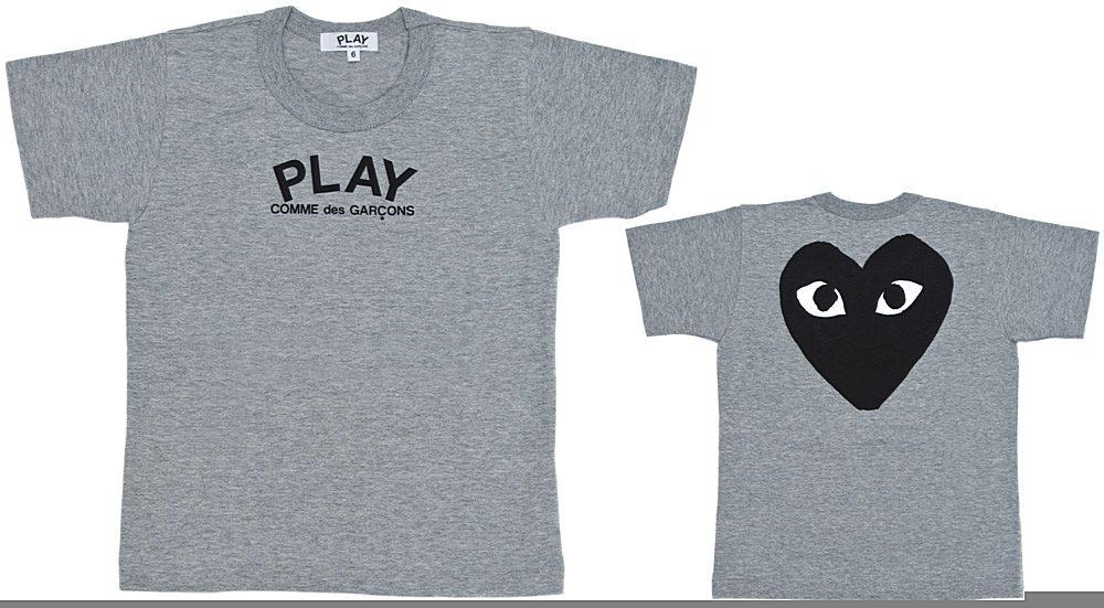 AZ-T571 / GREY-1 / COMME Des GARCON T-Shirt Play Logo