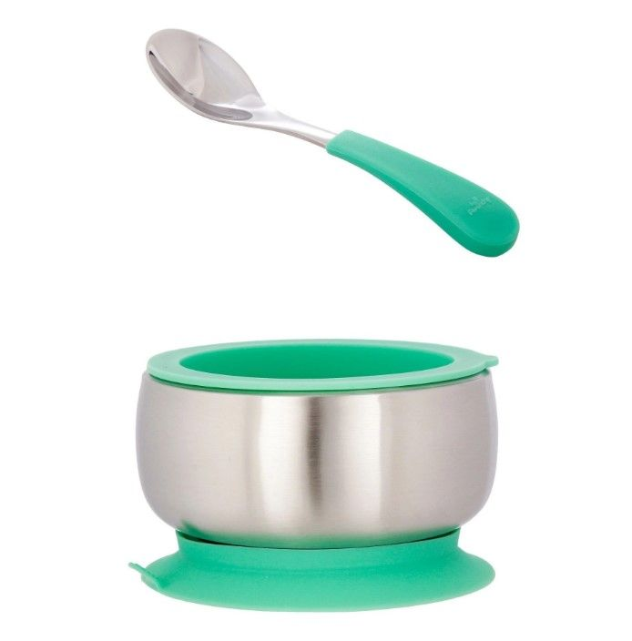 612520620516 / GREEN / AVANCHY STAINLESS BOWL W/SPOON