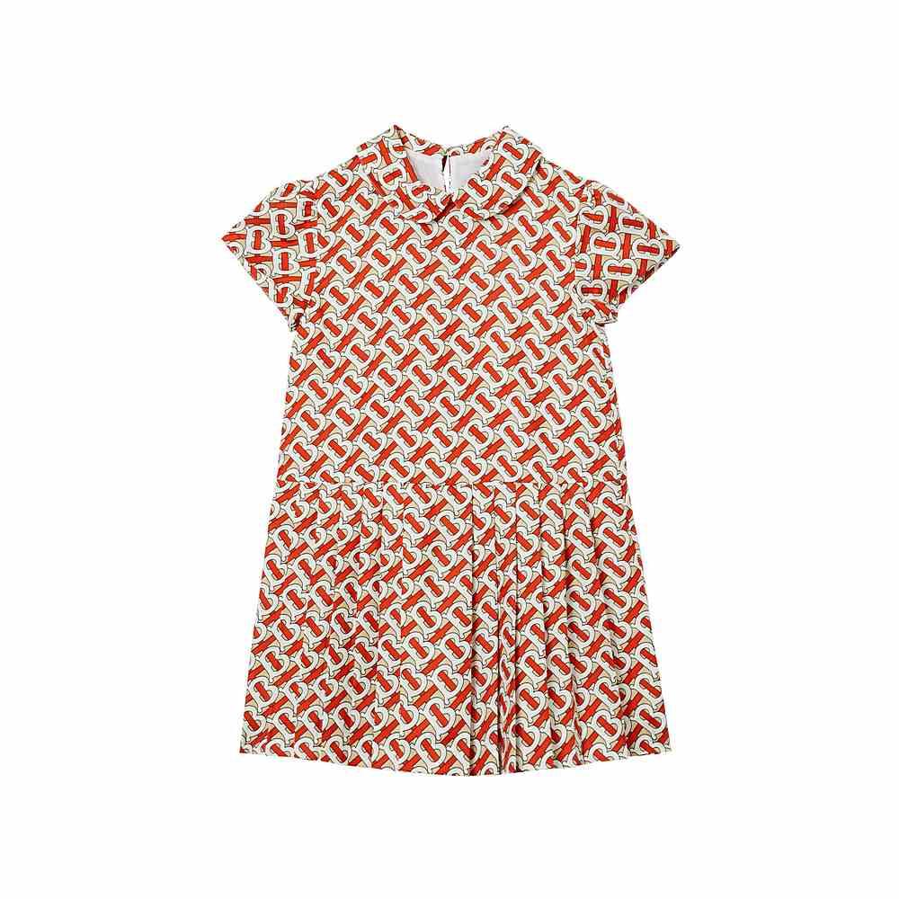 8026381 / RED / TB Monogam Silk Dress