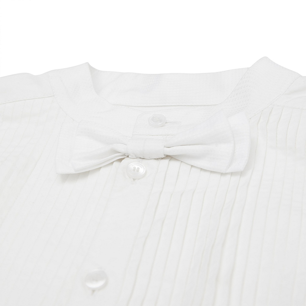 8017819 / WHITE / BURBERRY Myles Bow Tie Shirt