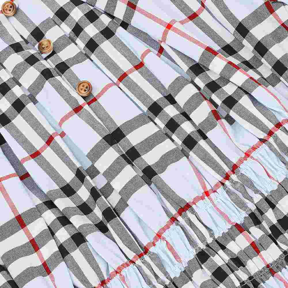 8022432 / BLUE / Joyce Panel Vintage Check Cotton Dress