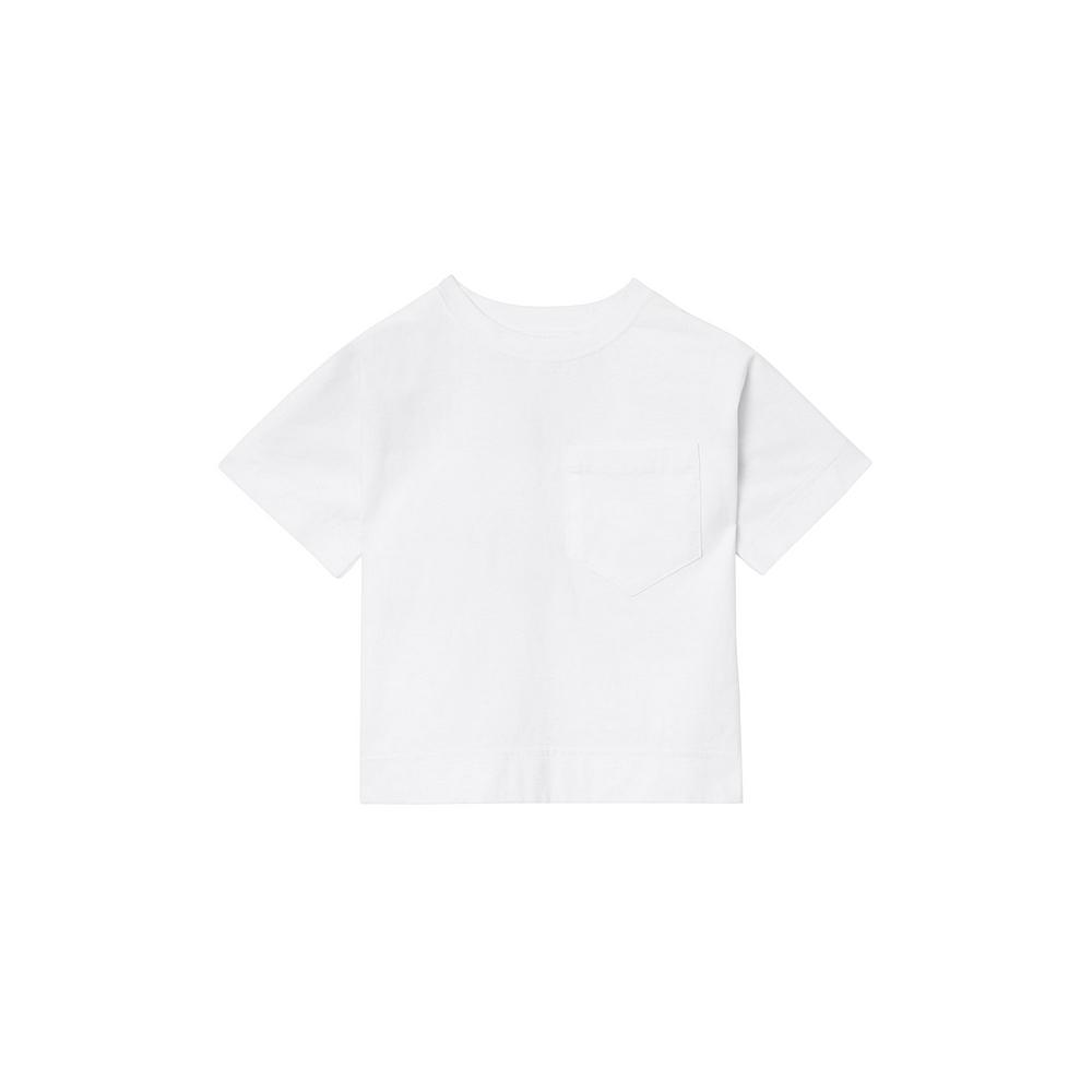 8009123 / WHITE / BURBERRY Tape T-Shirt