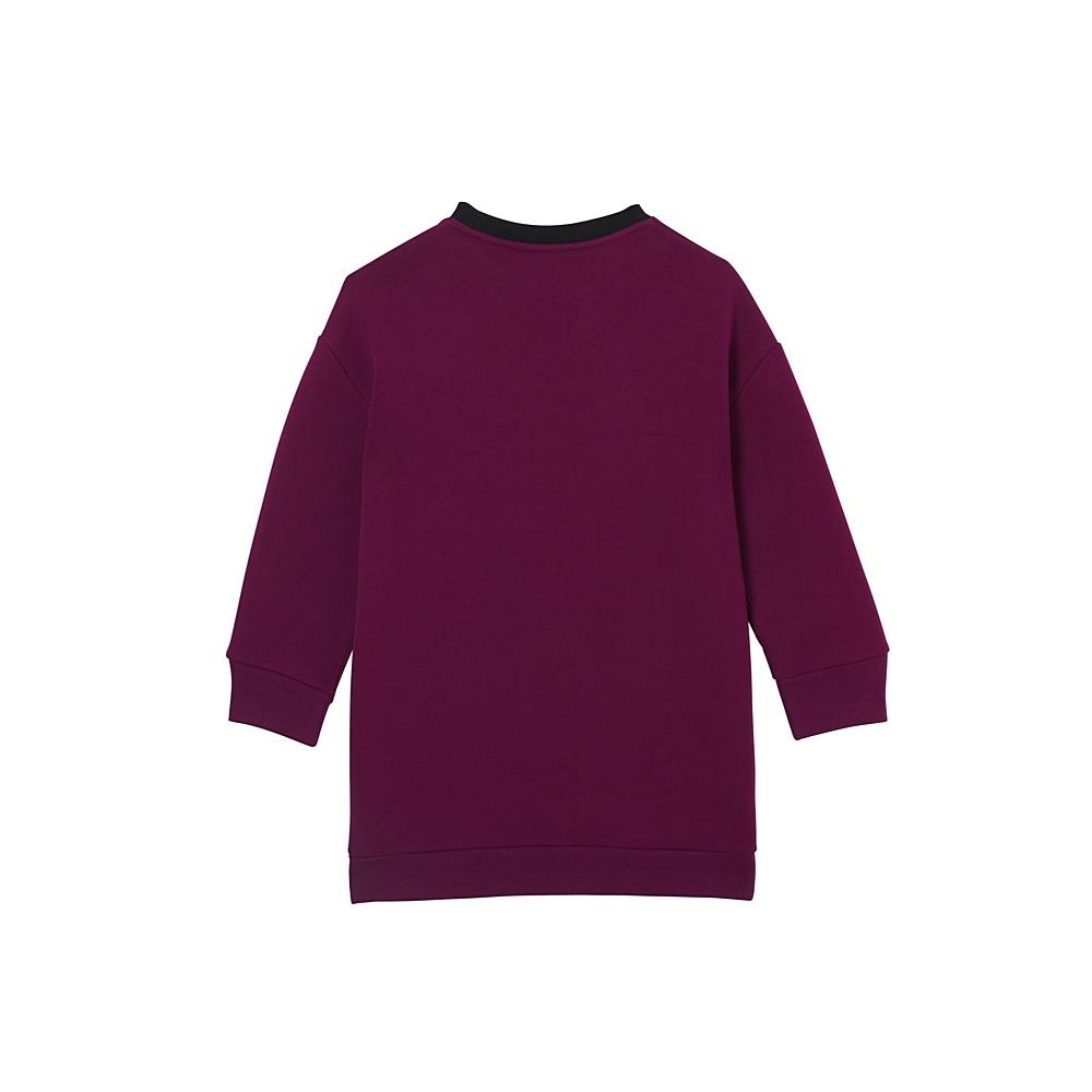 8020489 / BURGUNDY / Letisha Jersey SweatShirt Dress