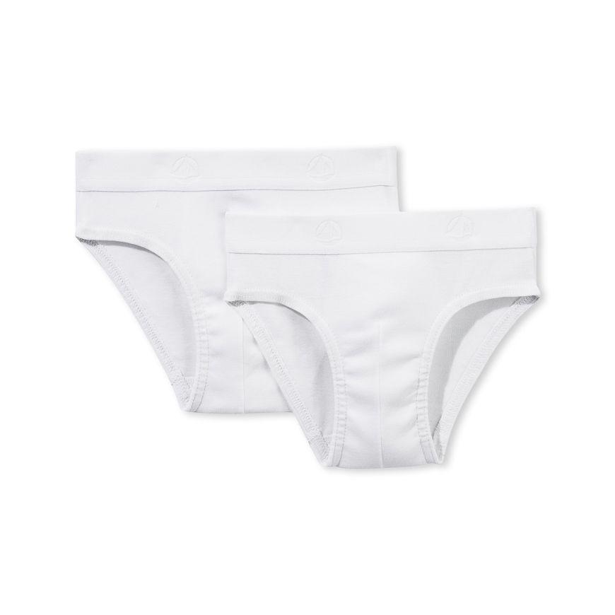 15045 / WHITE / Boy's Briefs 2 Pack