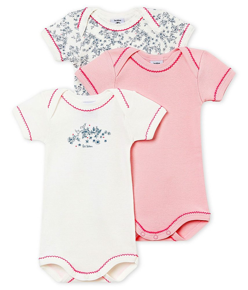 43710 / MULTI / Short Sleeve Body Suit 3 Pack