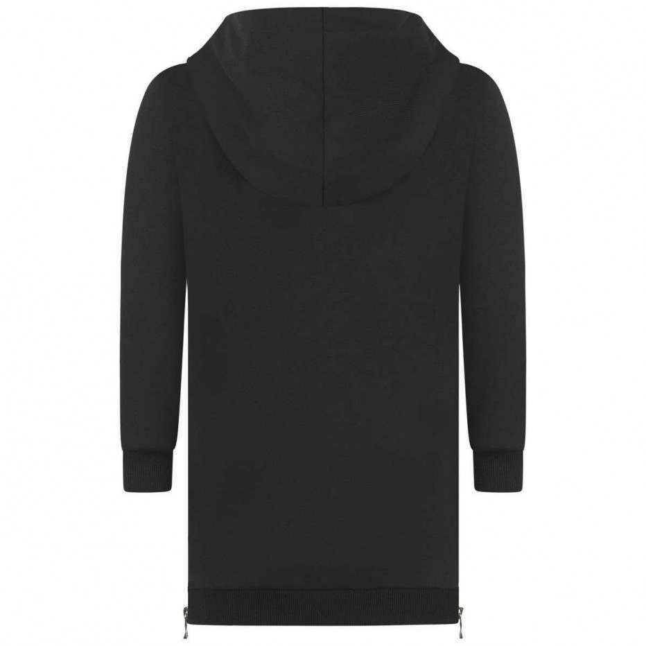 6L1060.930 / BLACK / Hoodie Dress With Side Zippers