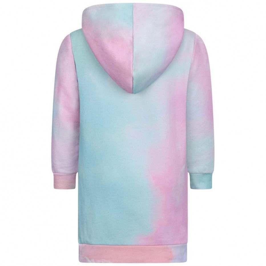 6M1000.500 / PINK / Hoodie Tie-Dye Dress
