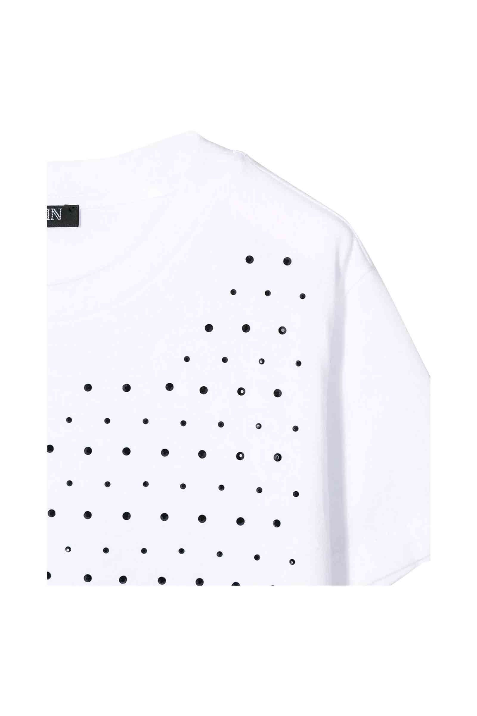 6L8001.100 / WHITE / Embellished T-Shirt