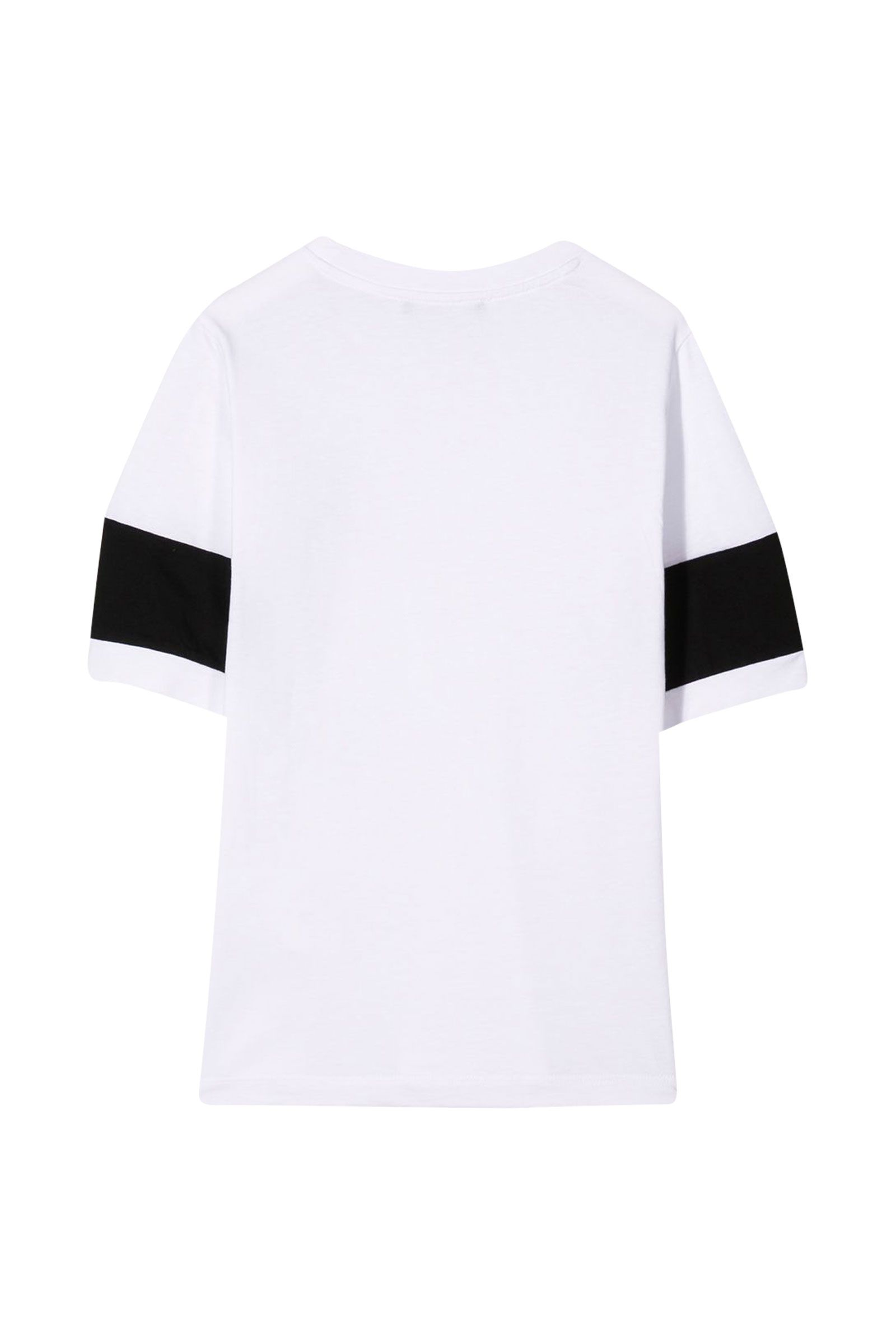 6M8521 / WHITE / B Color Black T-Shirt