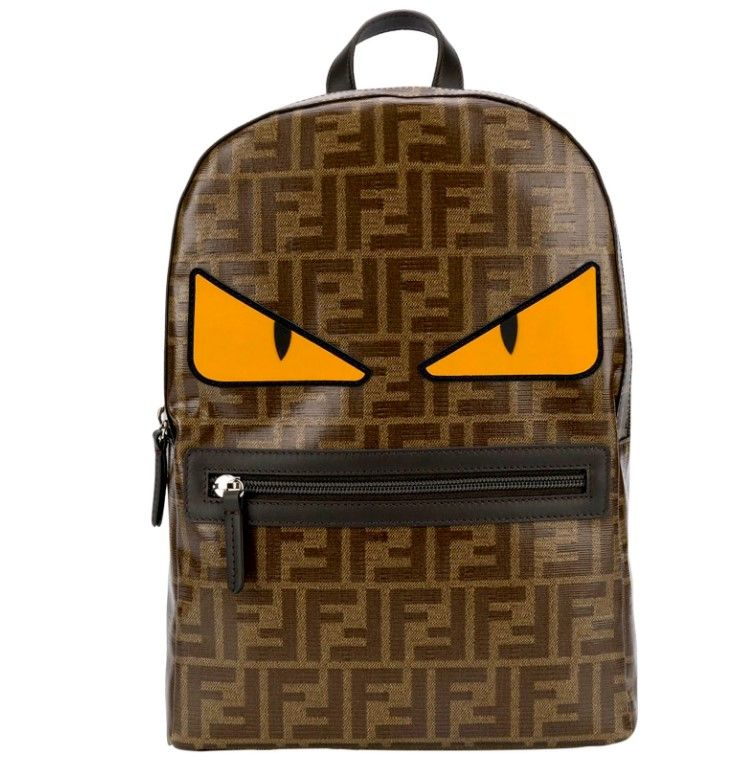 8BZ040 / MULTI / FENDI BACKPACK W/MONSTER EYES