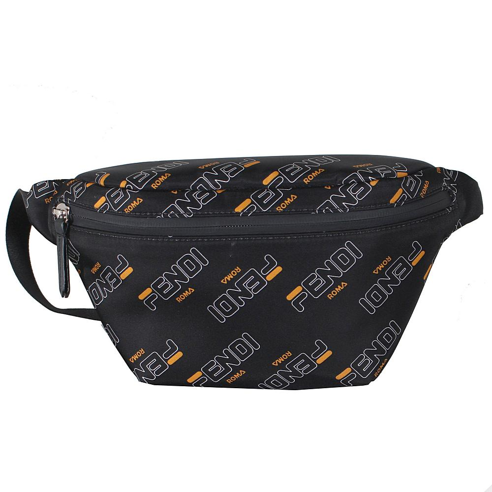 7VB011 / F09CX BLACK / FENDI FILA FANNY PACK