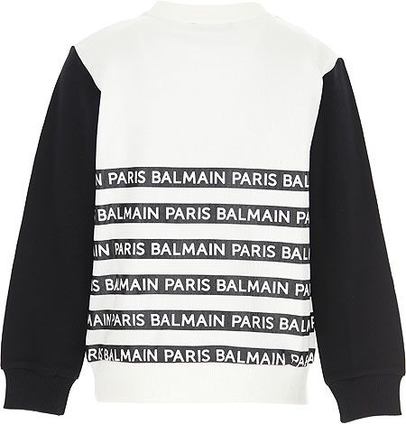 6M4520 / WHITE / Logo Stripe Sweatshirt