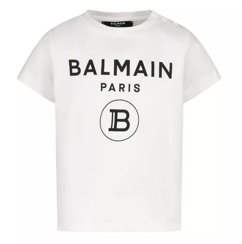 6M8901.100 / WHITE / Baby Short Sleeve Logo T-Shirt