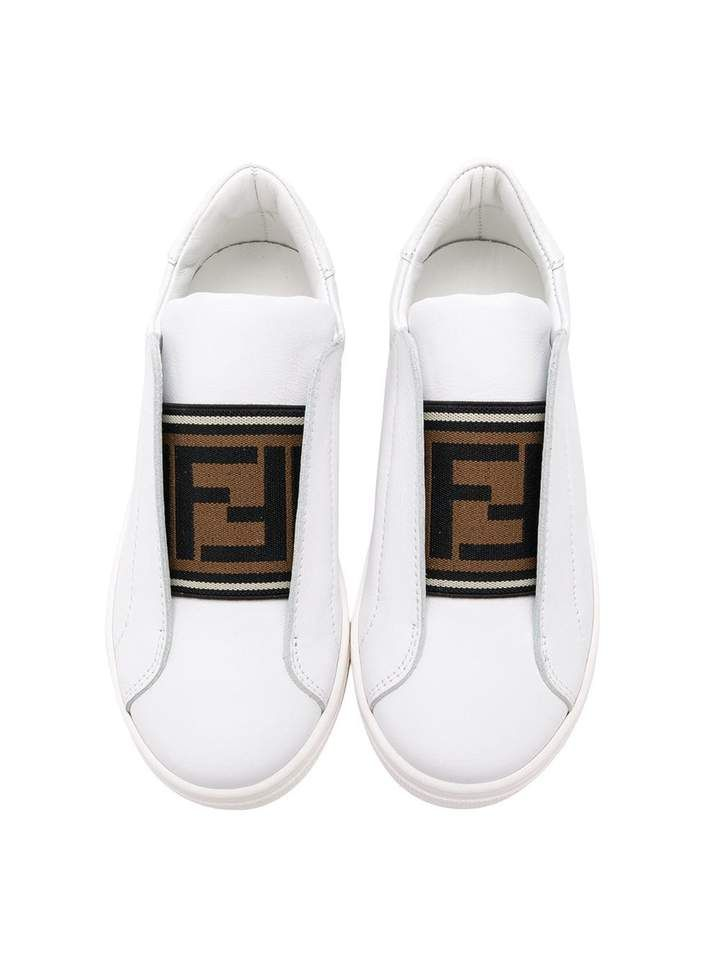 JMR254 / F15G4 WHITE / FENDI SNEAKERS WITH LOGO