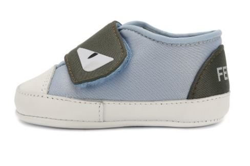 BUR025 / F0L5T BLUE / FENDI MONSTER EYES CRIB SHOES