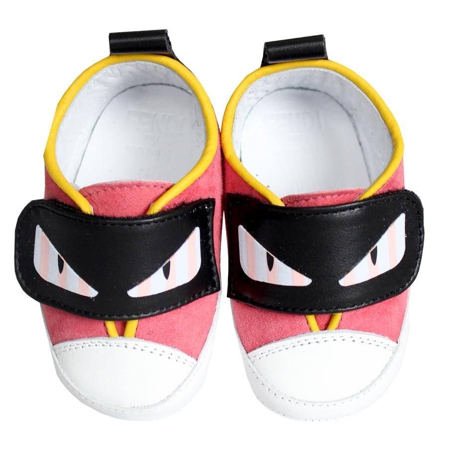 BUR023. / F0GCC PINK / FENDI MONSTER EYES VELCRO CRIB SHOES