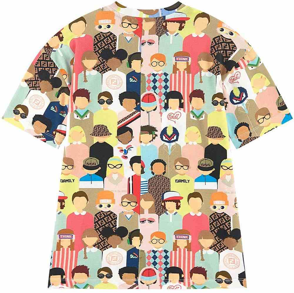 JMI319 / MULTI / All Over People Print T-Shirt