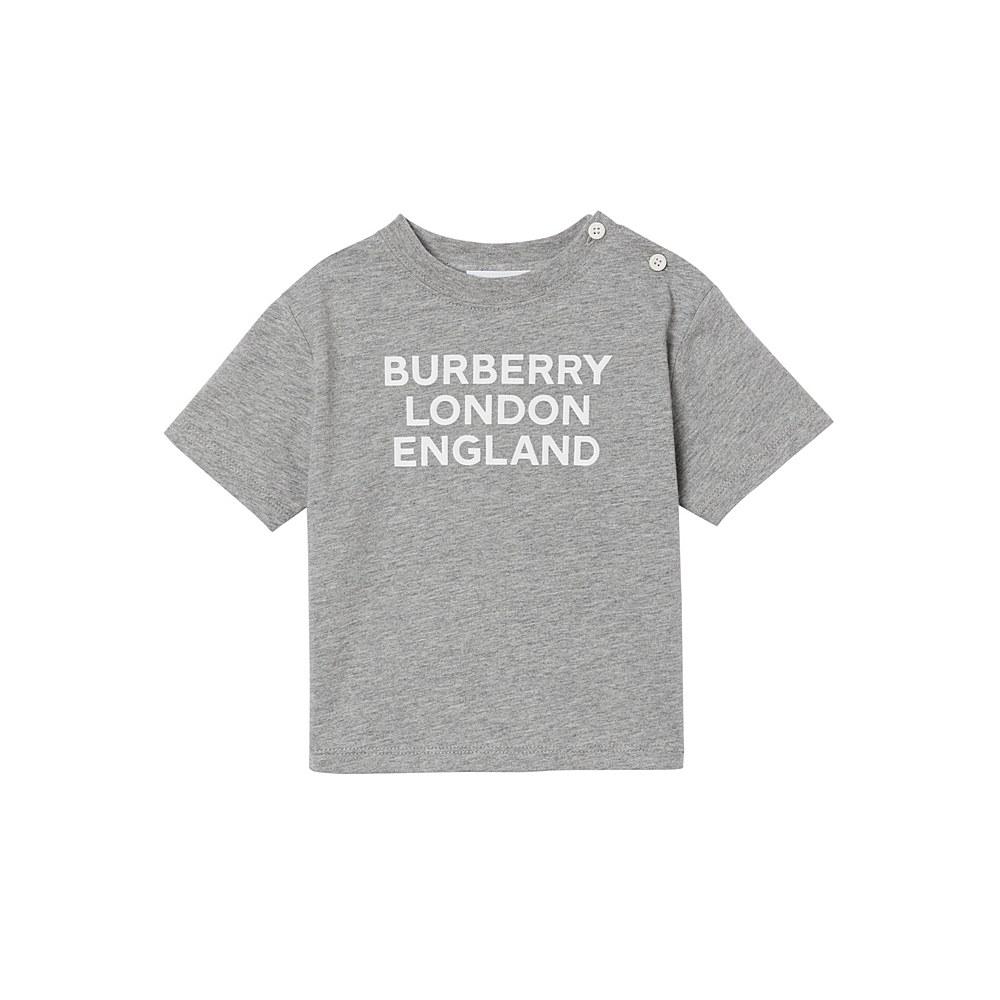 8028814 / GREY MELANGE / BURBERRY MINI-BLE TEE