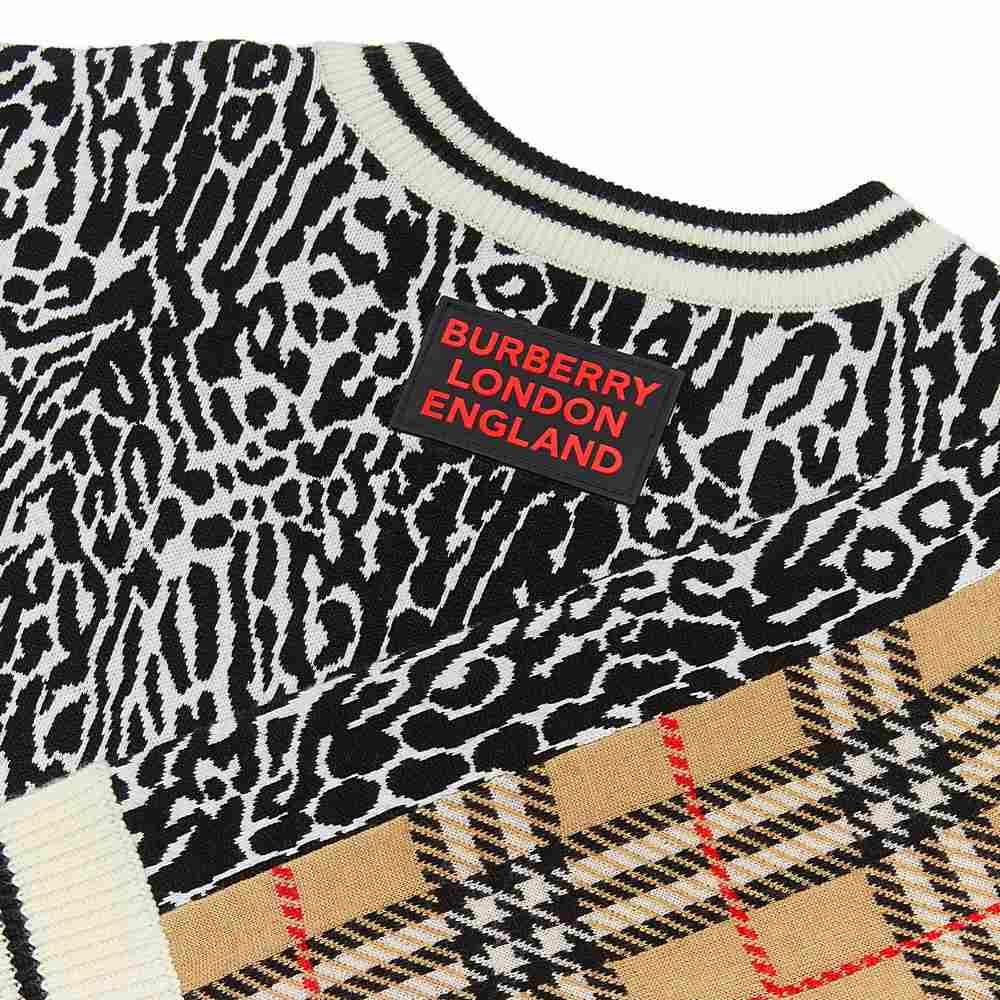 8029168 / LEOPARD PRINT / BURBERRY KNIT LEOPARD DRESS