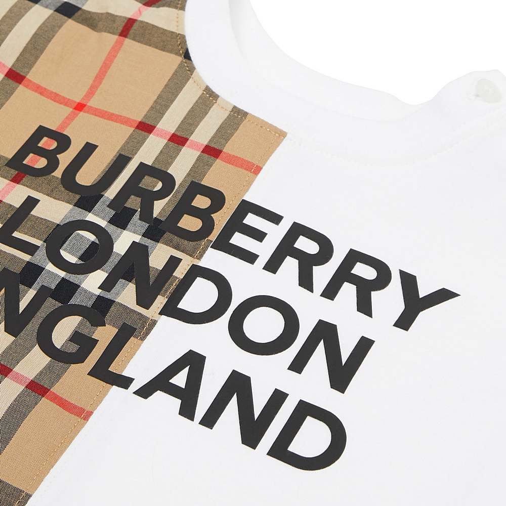 8030386 / WHITE / BURBERRY LENNOX NB OVERALLS