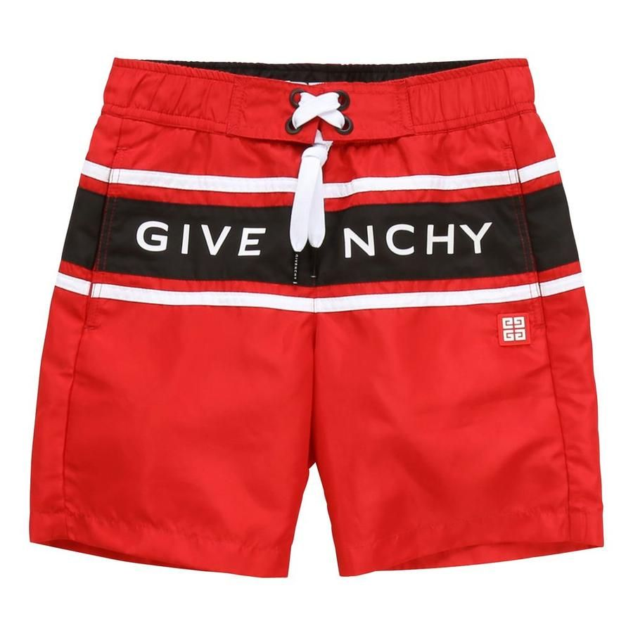 H20028 / 991 RED / GIVENCHY BOYS QUICK DRY SWIMSUIT W/LOGO in BAG