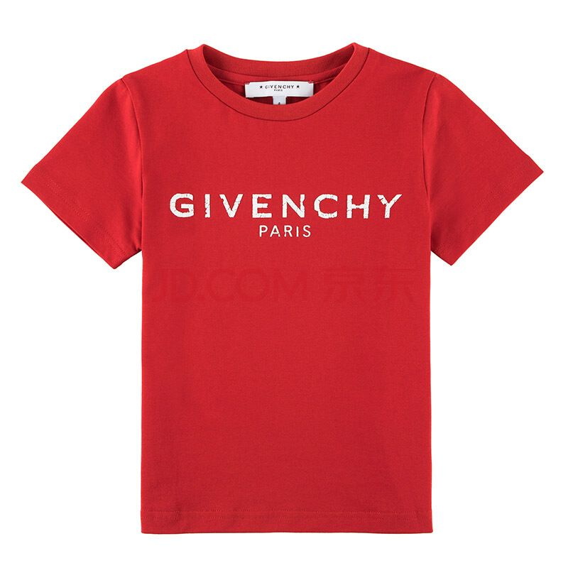 H25094- 978 RED TEE SHIRTS TOPS GIVENCHY