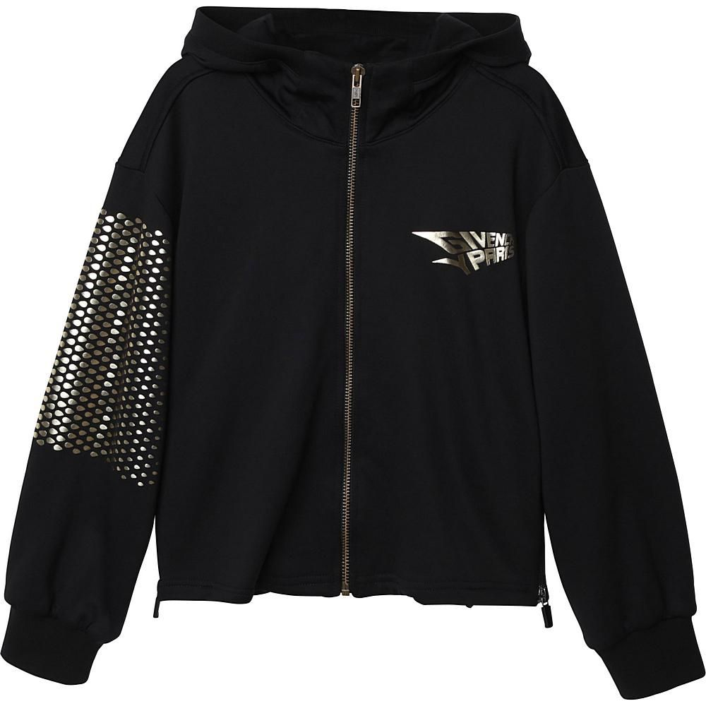 H15170 / BLACK / HOODED CARDIGAN LOGO FOIL INK