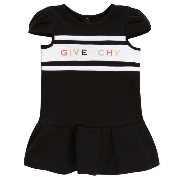 H02056 / 09B BLACK / GIVENCHY DRESS W/MULTI COLOR TEXT LOGO