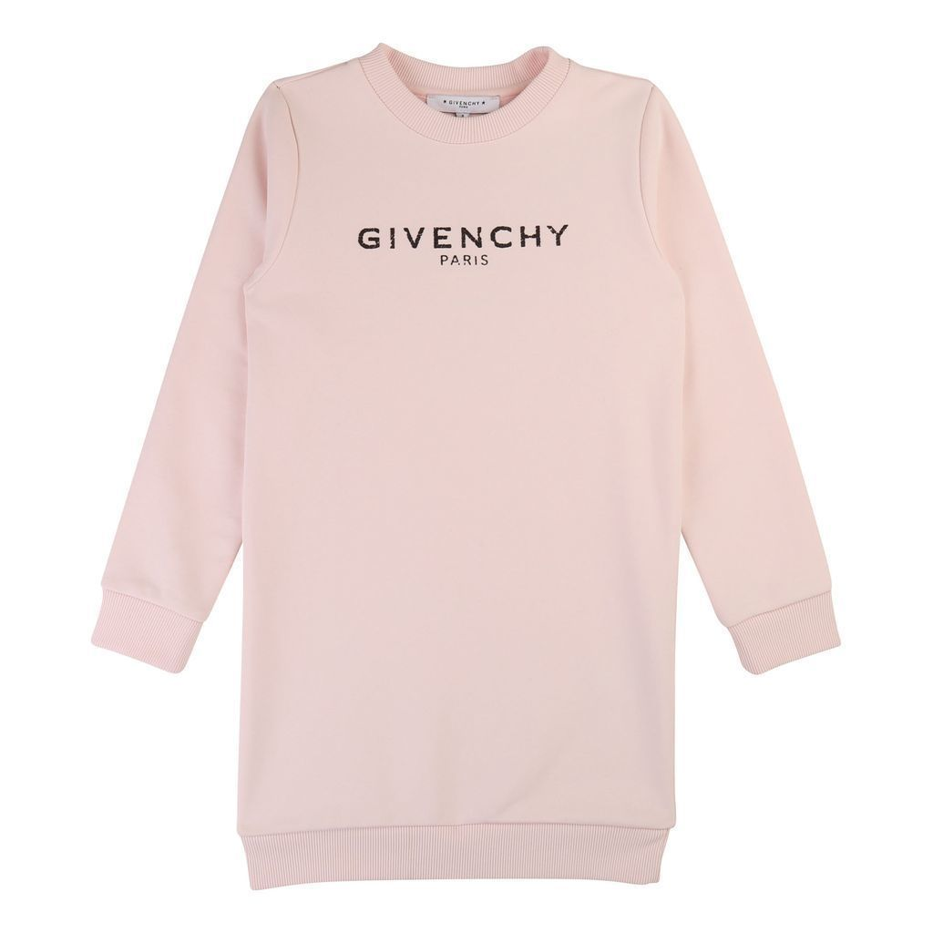 H12092 / 45S PINK / GIVENCHY LS DRESS W/TEXT LOGO