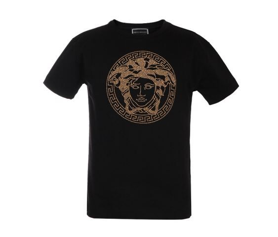YVMTS255 / BLACK/GOLD / YOUNG VERSACE TEE W/MEDUSA