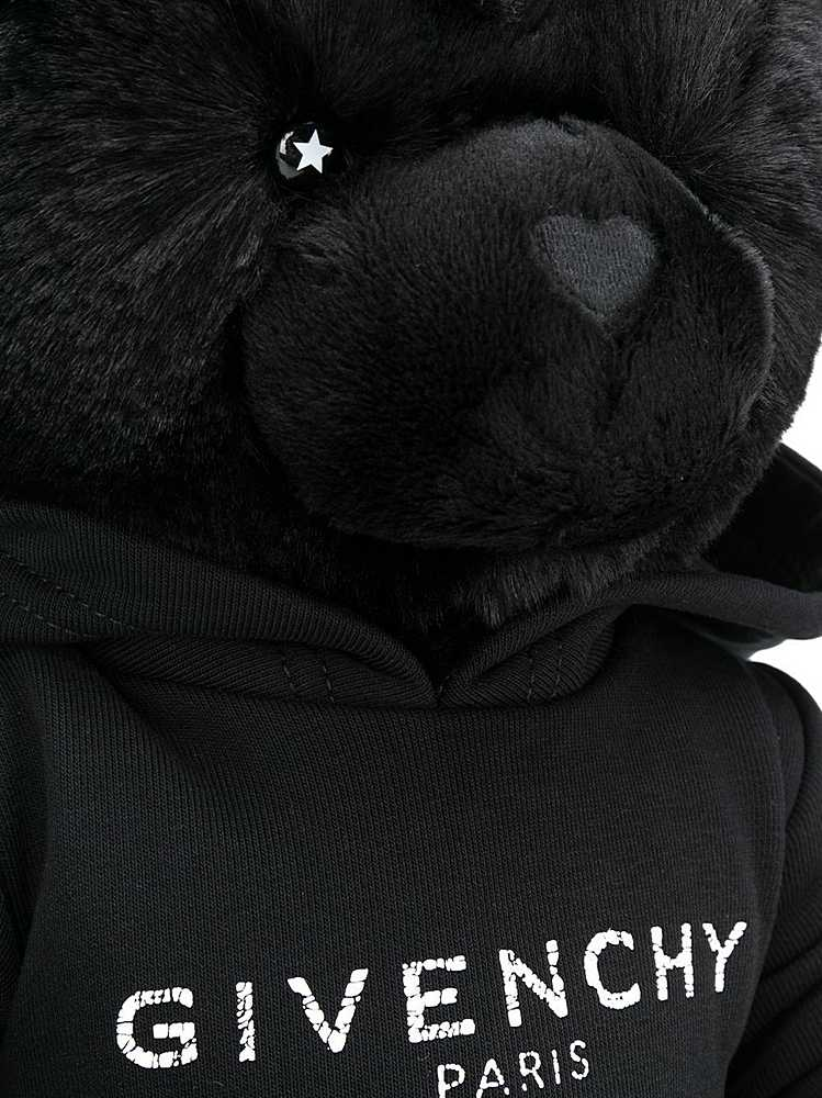 H9K016 / 09B BLACK / GIVENCHY TEDDY BEAR W/DISTRESSED LOGO