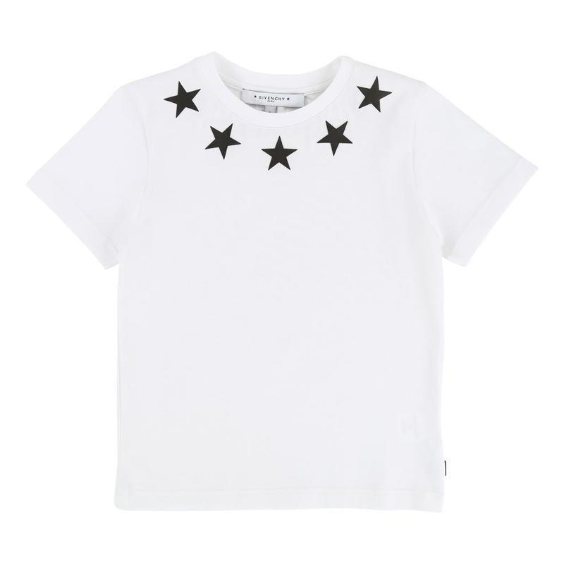 H25032 / 10B WHITE / GIVENCHY SS TEE W/STARS