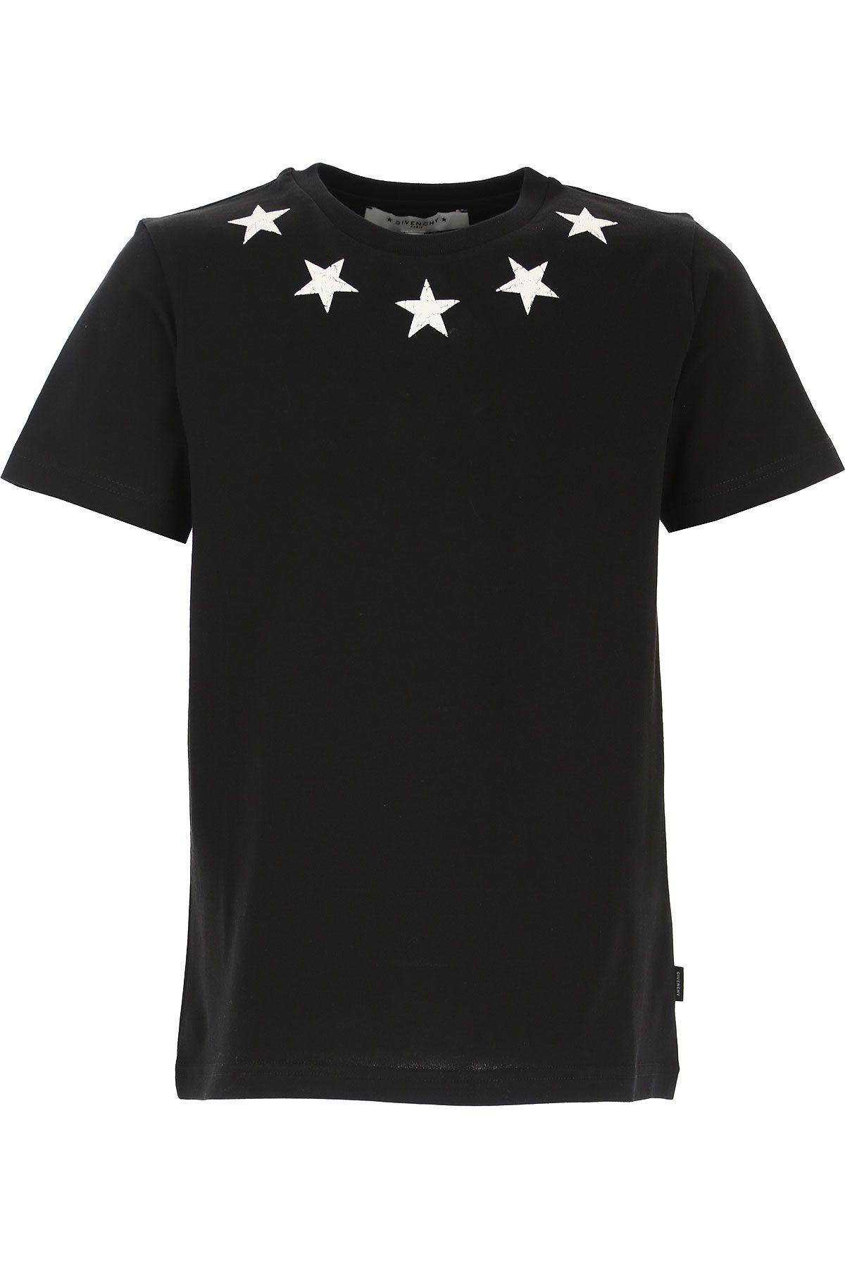 H25095 / 09B BLACK / GIVENCHY BLACK TEE W/CRACKED STARS