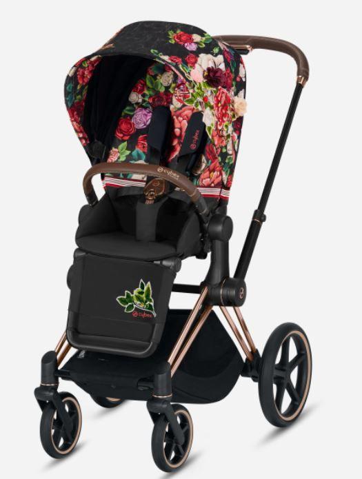 519003979 / SPRING BLOSSOM / PRIAM Seat Pack Spring Blossom Dark   Black