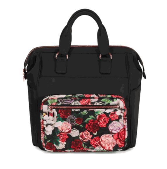 519004033 / SPRINGBLSSMBLCK / Platinum Changing Bag Spring Blossom Dark | Black