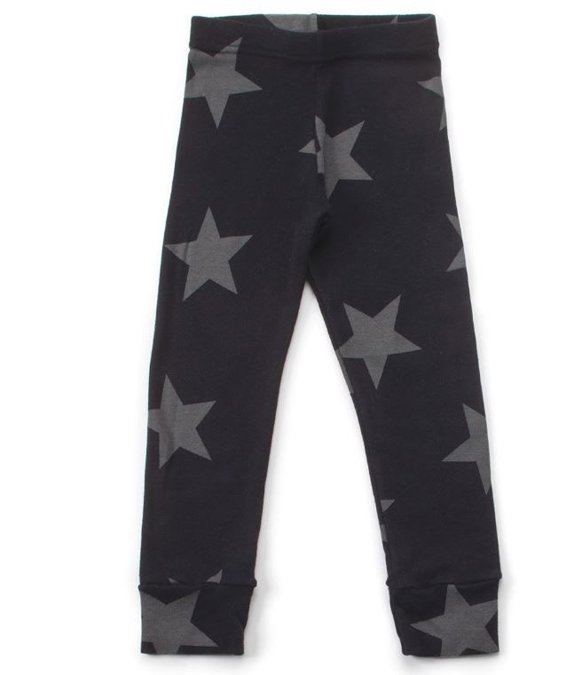 NU1557 / BLACK / NUNUNU STAR LEGGINGS