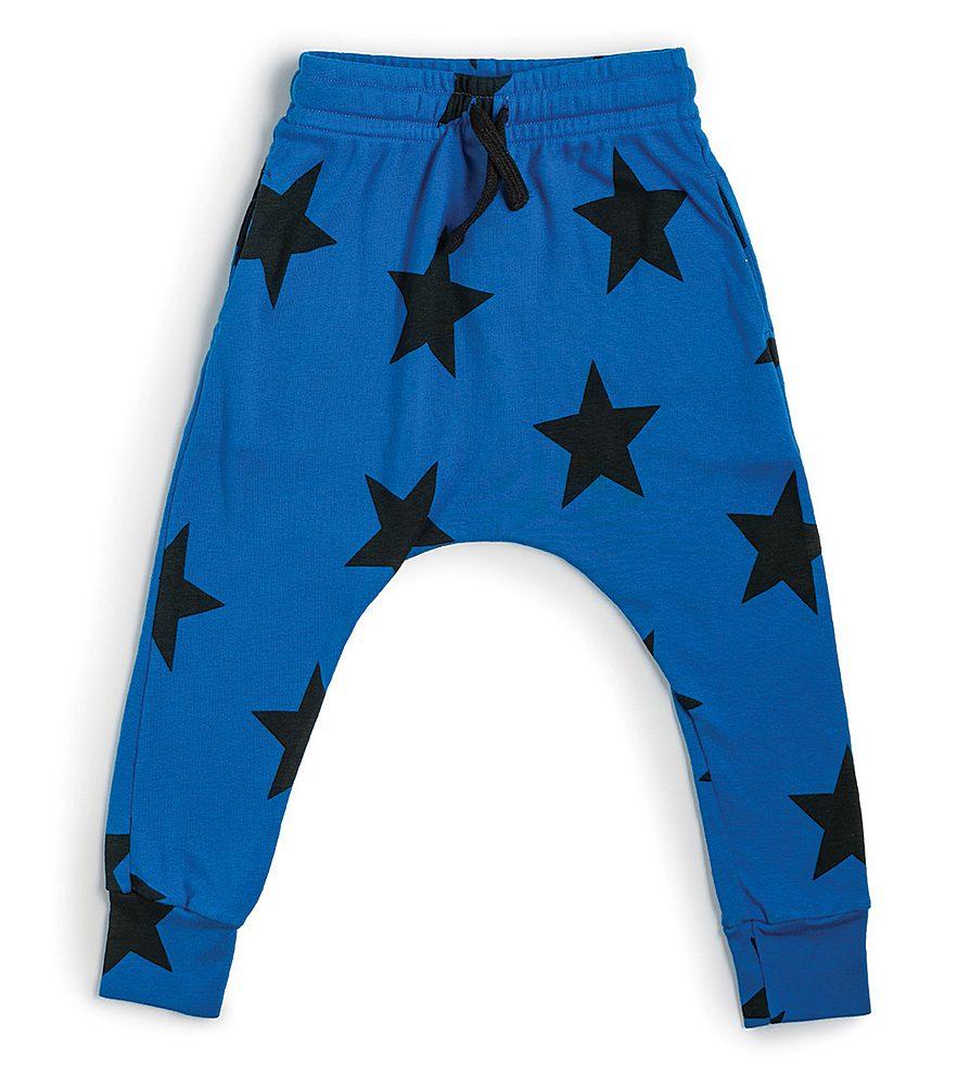 NU1759A / BLUE / NUNUNU STAR BAGGY PANTS
