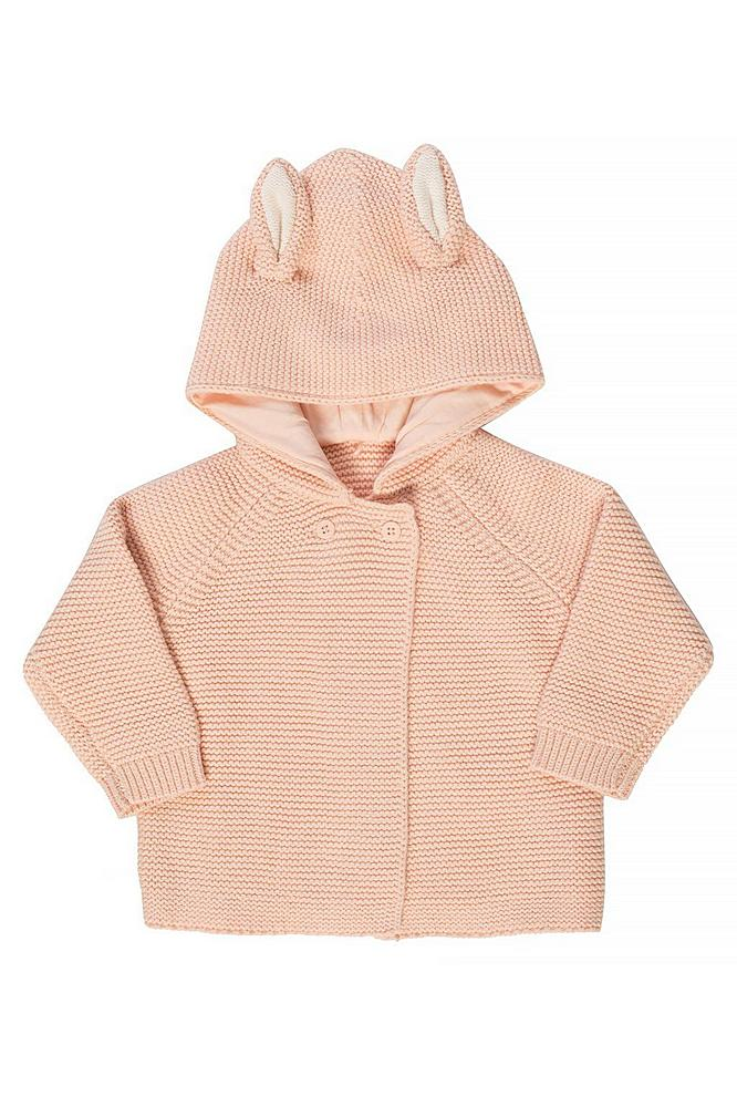 598046 / 5769 PINK / STELLA McCARTNEY KNIT HOODIE CARDIGAN W/EARS